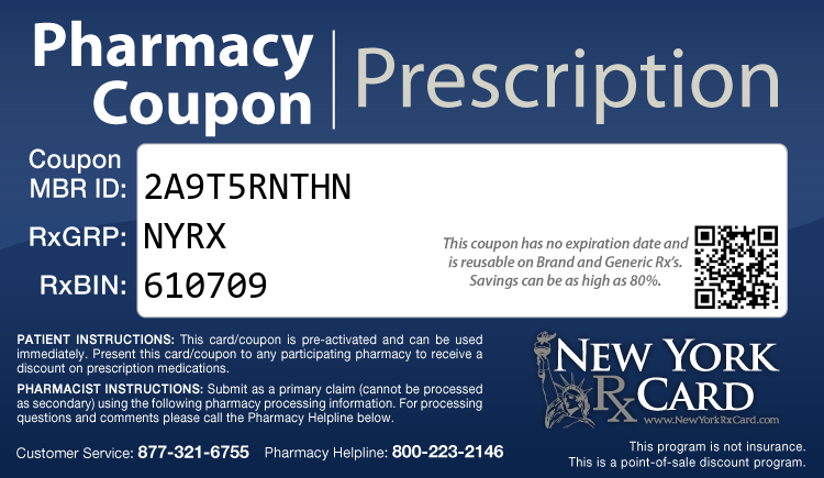 New York Rx Card - Free Prescription Drug Coupon Card