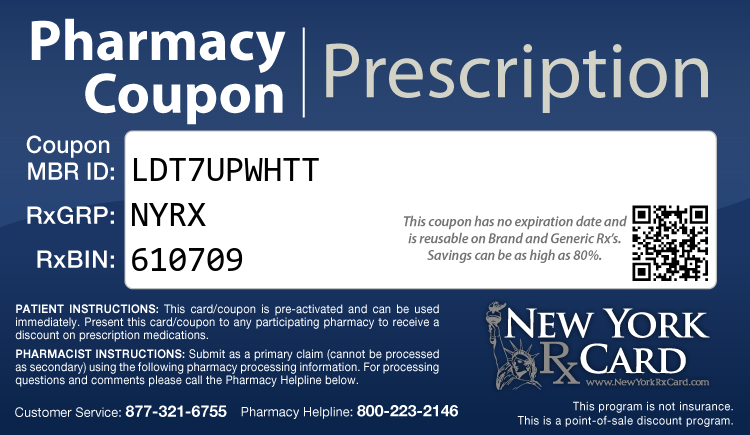 New York Rx Card - Free Statewide Prescription Assistance